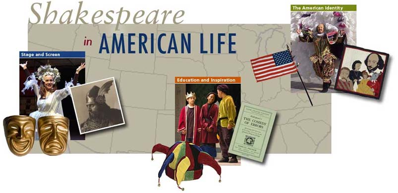 Website design for NEH-funded Shakespeare in American Life radio documentary, Folger Shakespeare Library